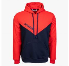 Arsenal Blue / Red Sport Cotton-Poly Relaxed Fit Pullover Hoodie Size XL