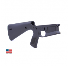 KE Arms KP-15 Polymer STRIPPED AR15 Mil-Spec Lower Integral Buttstock/Pistol Grip - Black  *FREE SHIPPING LIMIT 1 PER ORDER*