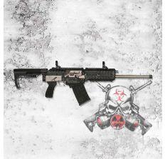 "FOSTECH ORIGIN 12 Semi-auto Shotgun  ALL NICKEL 12ga 18"" (1) 5rd mag"