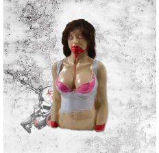 Alexa Ex Girlfriend Bleeding Zombie Target - Bleeds/oozes pink Zombie blood (paintballs) when shot!!