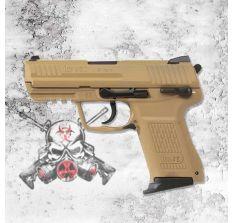 HK HK45C 45ACP TAN FRAME & SLIDE COMPACT V1 (2) 8rd mags
