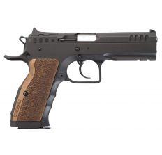 "IFG Tanfoglio Defiant Stock I Large Frame 9mm 4.45"" (2) 17rd - Black / Brown Grips"