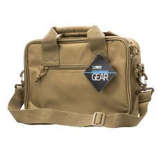 "NC Star Double Pistol Range Bag Tan 13""x10""x3.3"""