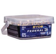 Federal BYOB Rimfire Bucket 22 LR 36 Grain Copper Plated Hollow Point 825 Rounds Per Bucket