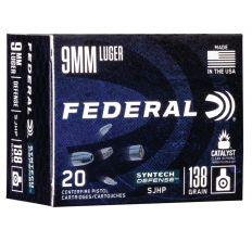 Federal S9SJT1 9mm 138gr SJHP - 20rd Box