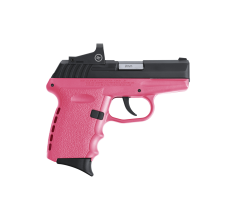 "SCCY Industries CPX-2CBPKRDE CPX-2 RD DAO 9mm Luger 3.10"" 10+1 Black Slide Pink Polymer Frame/Grip Red Dot Sight"