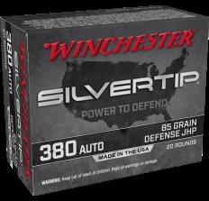 Winchester Silver Tip Ammo .380ACP 85gr Defense JHP - 20rd Box