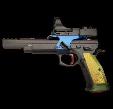 "CZ 75 Tactical Sport Czechmate Parrot 9mm 5.4"" (3) 20rd (1) 26rd - Parrot"