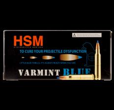HSM Varmint Ammunition .223 Remington 55gr Blue Tip Sierra Blitz King - 20rd Box