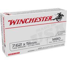 Winchester USA Target Ammo 7.62X51 149gr FMJ  - 20rd Box