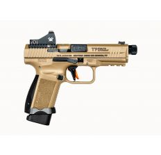 Canik TP9 Elite Combat 9mm 15rd/18rd Magzine W/ Vortex Viper Red Dot - FDE