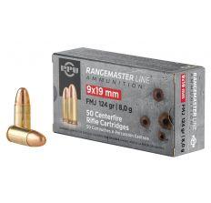 PPU Rangemaster 9x19mm FMJ 124gr 50rd