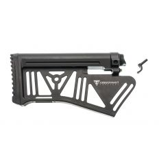 Juggernaut Tactical Silent Stock System - Black | AR10 | Featureless - CLOSEOUT!