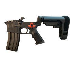 Franklin Armory BFSIII Equipped SE-SSP Complete AR15 Pistol Lower Receiver Black Installed AR-C1 Binary Trigger SBA3 Brace