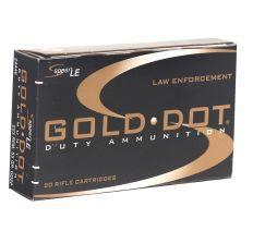 Speer Gold Dot LE Duty 223 Remington Ammo 62 Grain Soft Point