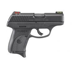 """Ruger LC9S Pistol 9mm 3.2"""" 7rd Hi-Viz Sights - Black"""