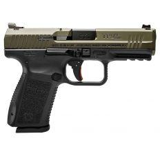 """Canik TP9SF ELITE 9mm Pistol 4.2"""" barrel BLACK frame OD Green slide (2) 15rd mags HG3898G-N"""