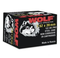 Wolf Performance 7.62x39 122 Grain FMJ 1000rd Case