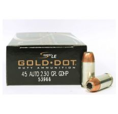 Speer LE .45 ACP Ammunition Gold Dot 230gr Hollow Point 50rd Box
