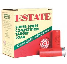 "Estate Shotshells 12GA 2.75"" 3 1oz. Super Sport Competition Target Load #8 250RD CASE"