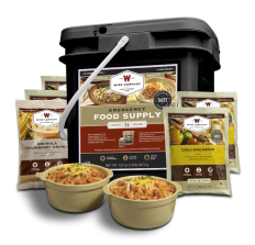 Wise Company 56 Serving Entree & Breakfast Grab and Go Black Bucket