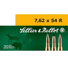 Sellier & Bellot 7.62x54R 174gr Match Hollow Point Boat Tail HPBT- 20rd Box