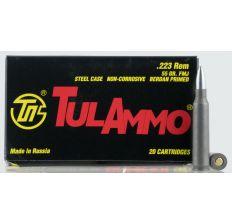 Tula .223 Remington 55gr FMJ - 1000rd CASE