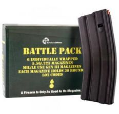 C Products Defense - 6-magazine Battle Pack of Black 30rd Steel 5.56/.223 Anti-Tilt Orange Follower