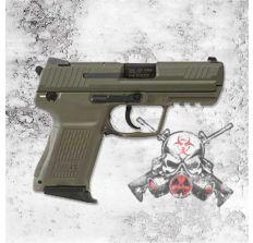 "HK 45C Compact 45ACP 3.9"" V1 8rd OD GREEN (2) 8rd mags 745031GG-A5"