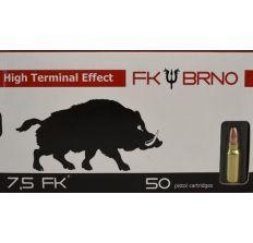 7.5FK cartridge 95 Grain Hollow Point Frangible Nose Bullet 50rd Box