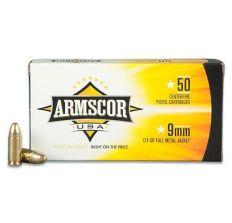 Armscor 9mm 124 Grain Weight Fmj 50rd box