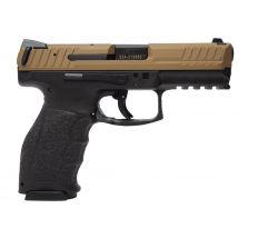 Heckler & Koch VP9 15rd Brown Slide Black Frame 15rd 9mm 2 magazines