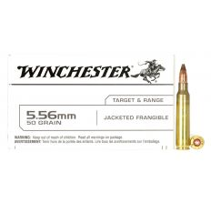 Winchester White Box 5.56 Nato 50gr Jacketed Frangible 20rd Lead Free