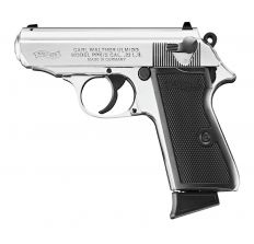 "WALTHER PPK/S .22LR 10+1 3.35"" NICKEL PLATED"
