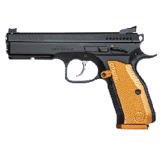 CZ Shadow 2 9mm Pistol Black with  Orange Aluminum Grips 17rd