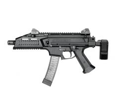 CZ SCORPION EVO 3 S1 9mm Pistol 7.72'' barrel threaded 1/2X28 (2) 20rd mags 91351 with SB Tactical PDW Collapsible Brace 32rd Scorpion Magazine