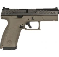 CZ P-10 Compact FDE 9mm Pistol 3.8'' barrel Night Sights (2) 15rd mags