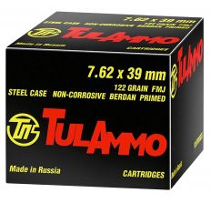 TulAmmo 7.62x39mm Russian 122gr FMJ Rifle Ammo - 40 Rounds