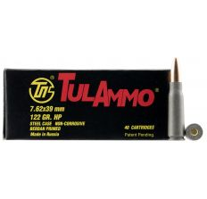 Tula 7.62x39 122 Grain Weight HP 40rds