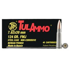 Tulammo UL076211 Rifle 7.62x39mm 124 gr Hollow Point (HP) 1000rd Case