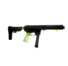 "Alien Armory Tactical Forged Aluminum AAT-9 AR Pistol Green 9mm 7.5"" Barrel Flash Can 9"" M-LOK Handguard SBA3 Brace Glock Style Magazines"