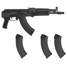 "PIONEER ARMS POLISH HELLPUP AK-47 7.62X39 11.73"" BLK 4-30RD MAGS"