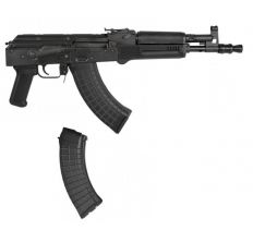 """PIONEER ARMS POLISH HELLPUP AK-47 7.62X39 11.73"""" BLK 2-30RD MAGS"""