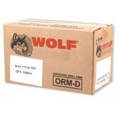 Wolf Steel Case 9mm Luger Handgun Ammunition- 115 Grain FMJ 1000rd Case