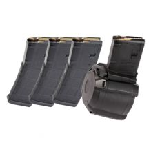 Magpul AR PMAG Bundle ONE D-60 60RD DRUM AND THREE 30RD MAGPUL MOE PMAGS