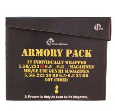 C Products Defense - 12-magazine Armory Pack of Black 30rd Steel 5.56/.223 w/Orange Follower