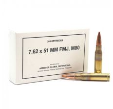 Armscor Ammunition 7.62x51 M80 147gr FMJ - 20rd Box