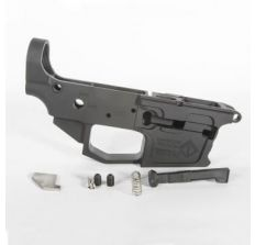 ATI MILSPORT Billet Aluminum 9mm Stripped Lower Receiver - Black