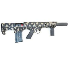"Black Aces Pro Series Bullpup 12GA Semi-Auto Shotgun 18.5"" Barrel w/Barrel Shroud - Tiger Stripe"