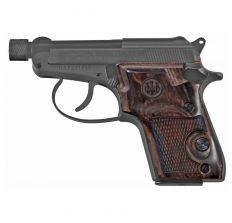 "Beretta 21A Bobcat .22LR 2.9"" 7-Shot Covert Black/Wood Grips Threaded Barrel"